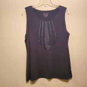 Chico's Black Stretchy Tank Top - Size 2